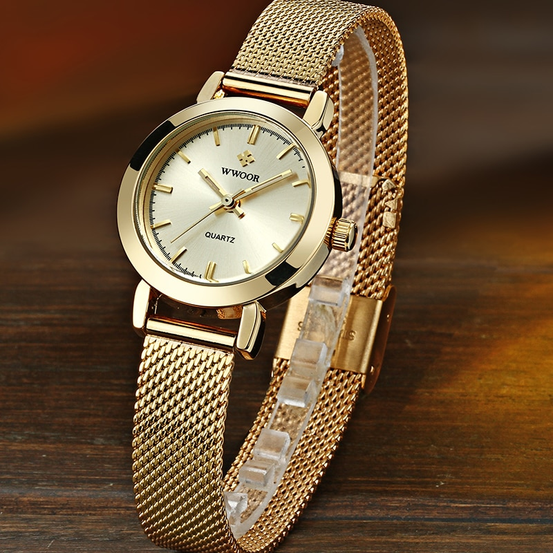 2021 WWOOR Brand Women Watches Top Luxury Gold Ladies Gift Casual Dress Ladies Small Quartz Watch Female Wrist Watch Reloj Mujer enlarge