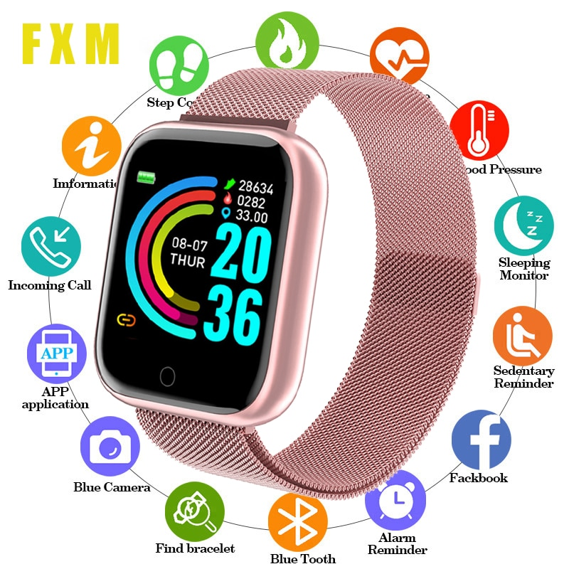 kinyo 2018 smartwatch amoled 1 16gb mt6737m lte 4g network android 7 0 gps heart tracker smart watch for men for xiaomi lem7 Smart Watches Women Heart Rate Sleep Monitoring Waterproof Sports Smartwatch Men Fitness tracker For IOS Android Digital Watch