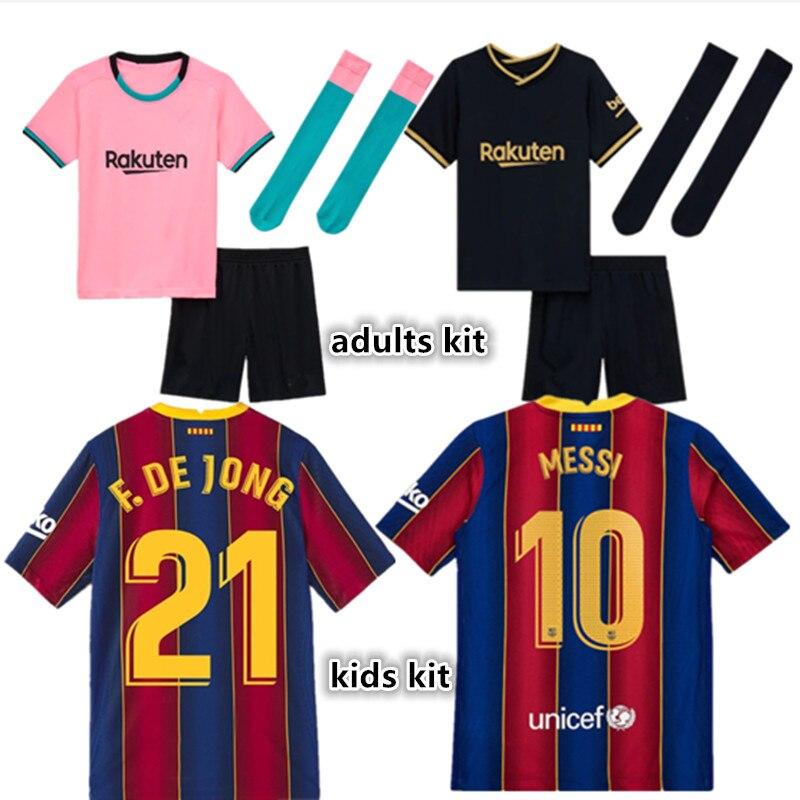 Kit para niños nuevos adultos kit camisa LENGLET JORDI ALBA COUTINHO ANSU...