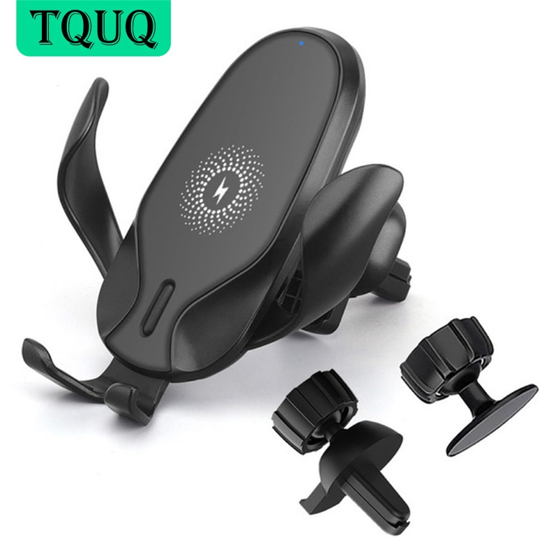 TQUQ Qi 10W Car Fast Wireless Charger For iPhone 8 8 Plus XS 7.5W Wireless Car Charger For Samsung G