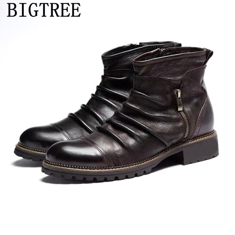Botas de Couro dos Homens Botas de Cowboy do Vintage Sapatos de Designer Mais Tamanho Vestido Preto Sapatos Casuais