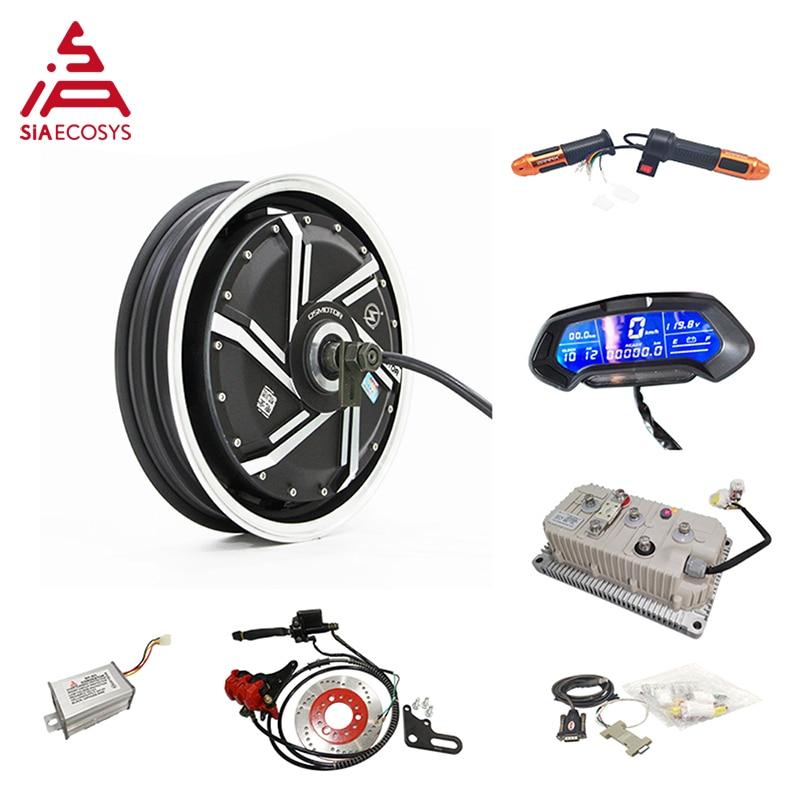 QS Motor 14inch 6000W 273 45H V3 72V 110km/h high speed Electric Scooter motorcycle  Wheel Hub Motor