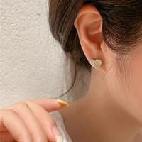 new arrival metal trendy crystal heart dangle earrings for women love super fairy small ear rings girl female simple jewelry