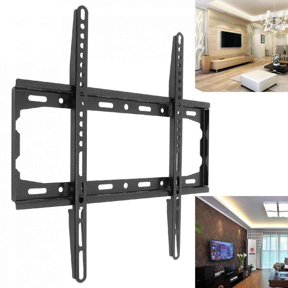 Universal 25KG/35KG/50KG TV Wall Mount Bracket Fixed Flat Panel TV Frame for 12 - 37 / 26 - 60 Inch LCD LED Monitor Flat Panel
