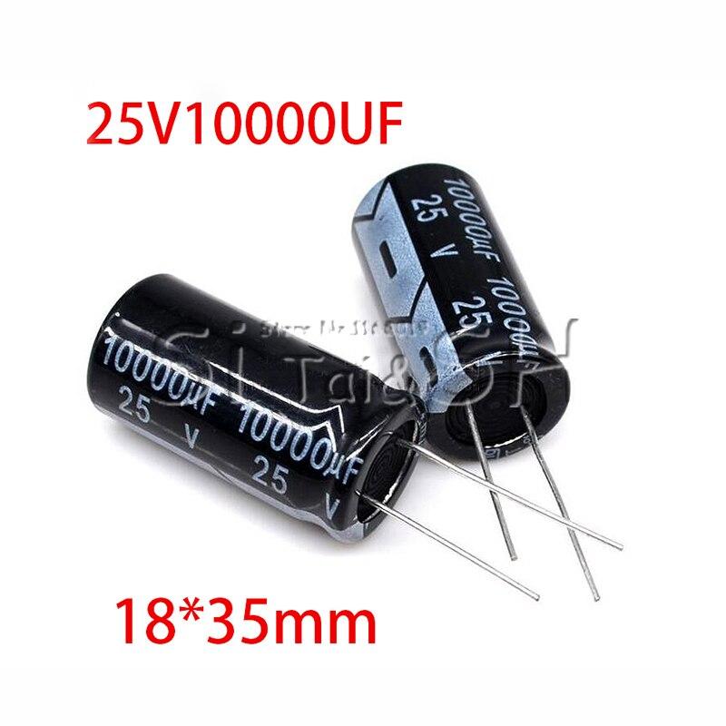 1Pc 25V 10000Uf 18*35Mm Aluminium Elektrolytische Condensator 18X35mm