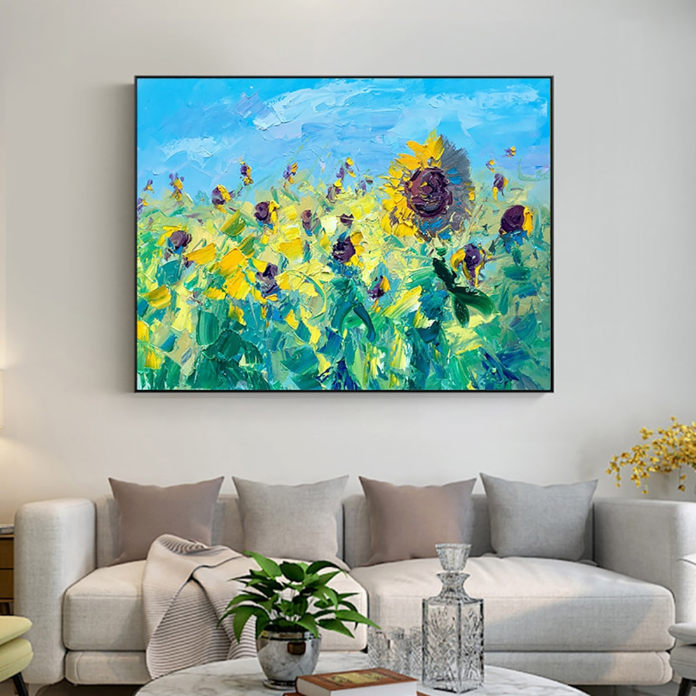 Abstract Sunflower Handmade Oil Painting On Canvas Wall Art Picture Abstract Flower Oil Painting Living Room Bedroom Decoration high quality cheap price 100% handmade abstract sexy woman back oil painting on canvas for home living room decoration
