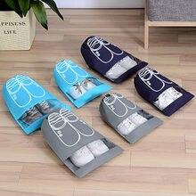 Sac de rangement sac de voyage   Sac à chaussures imperméable épais 1 unité, pochette de rangement, sac de voyage organisateur de blanchisserie Non tissé sac à cordon Portable, housse organisateur