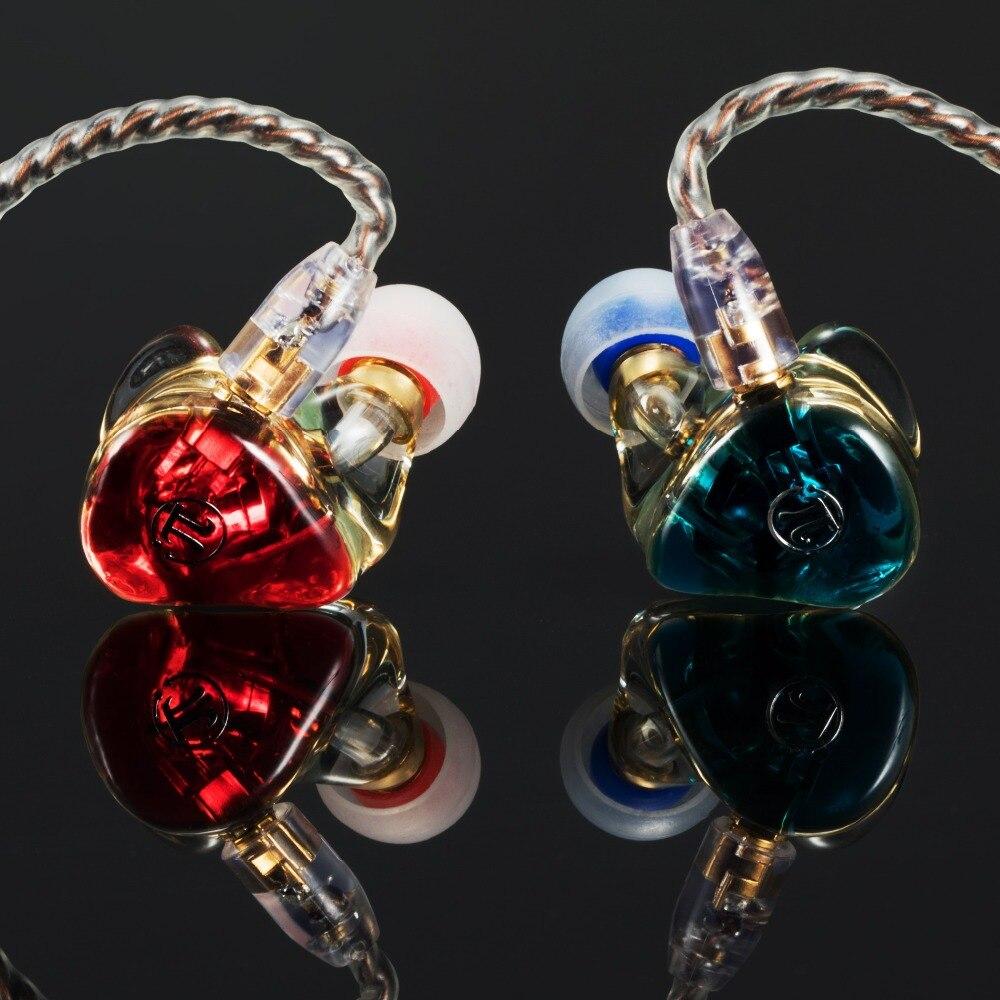جديد 3.14 Pai Audio DR2 ديناميكية سماعات أذن داخل الأذن محرك HiFi في الأذن شاشات الثقيلة باس bluedio الرياضة المعادن سماعة vs KZ بلون