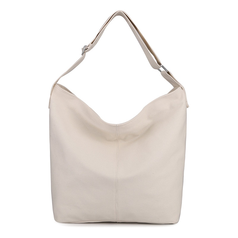 All Match Casual Big Capacity Canvas Women Shoulder Bags 2021 New College Fresh Girls Daily Book Crossbody Fashionable