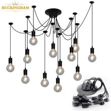 Vintage araignée lampes suspendues rétro Edison ampoule lustre moderne nordique Antique suspendu réglable bricolage plafonnier
