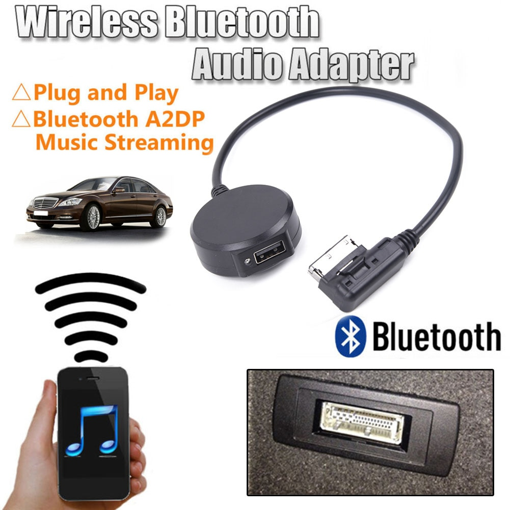Interface Wireless Bluetooth Adapter USB Music AUX Cable For Mercedes Benz MMI  Music Adapter citall 12v 12 pin bluetooth aux adapter cable fit for mercedes benz w169 w245 w203 w209 r230 w221 w251 w164 x164