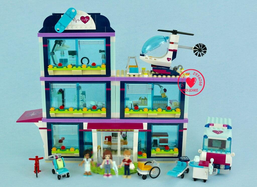932 pçs 37036 coração cidade parque amor hospital meninas blocos de construção leginglys amigos 41318 tijolos brinquedos modelo blocos de construção brinquedos