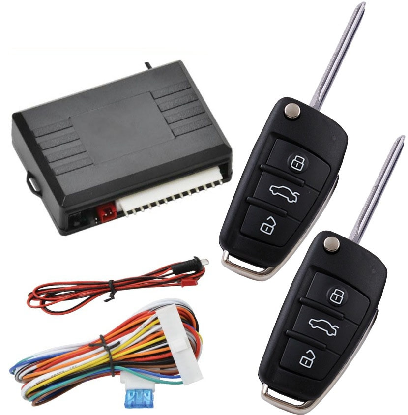 Universal Car Alarm System Remote Control Central Door Lock Locking Wireless Entry System Kit Car Auto Alarm