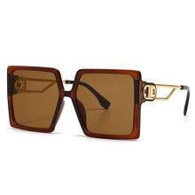 Солнцезащитные очки оверсайз для мужчин и женщин, модель в стиле знаменитостей для уличной съемки, квадратные дизайнерские линзы с большой оправой