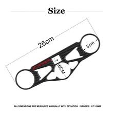 Coque en Fiber de carbone à Triple pince   Pour autocollant de moto CBR1000RR coque supérieure à Triple pince, étui pour CBR 1000RR 2008 2009 2010 2011