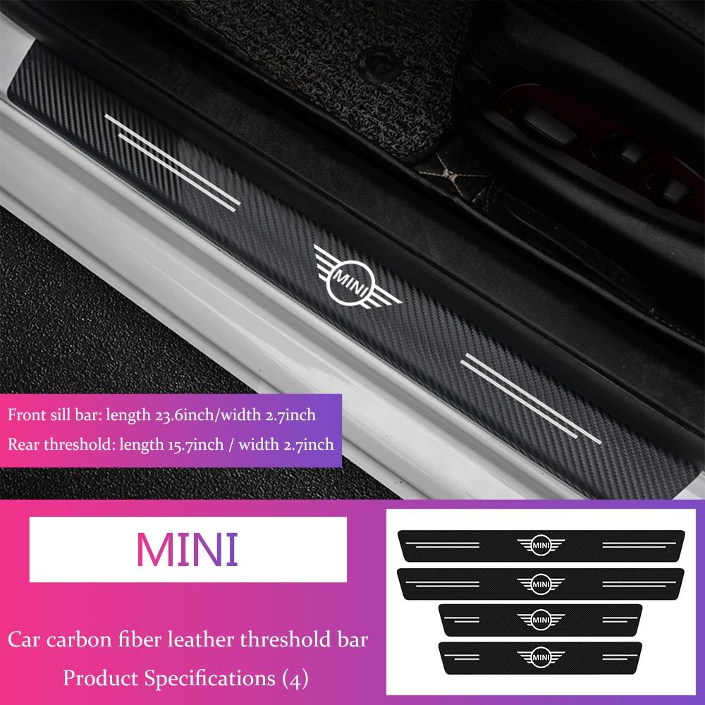 4 шт., автомобильные наклейки на порог двери для Mini Cooper S R50 R52 R53 R55 R55 R55 R56 R57 R58 R59 R60 Наклейки на автомобиль      АлиЭкспресс