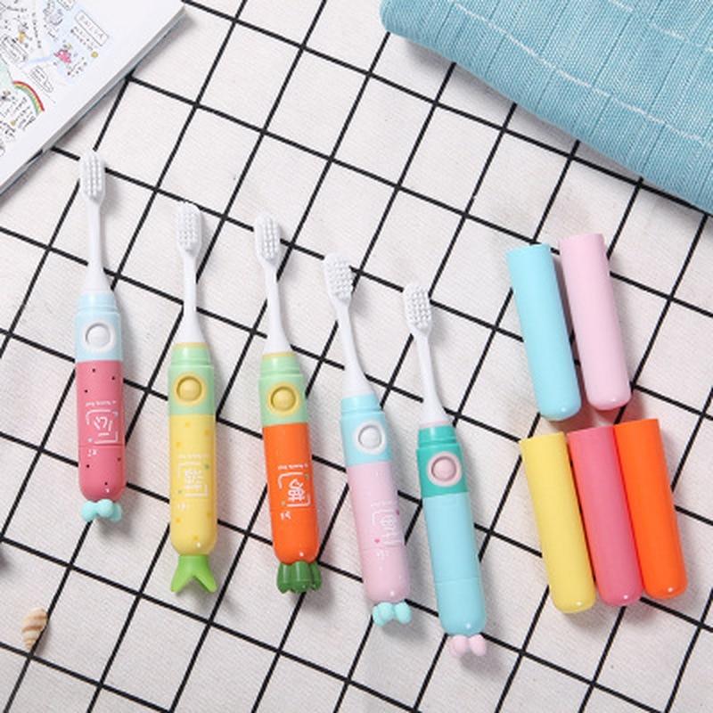 Energia Da Bateria Atualizado Segurança Criança sonora escova de Dentes Elétrica escova de Dentes automático Cuidados com Os Dentes escova Crianças escova de Dente escova de limpeza profunda