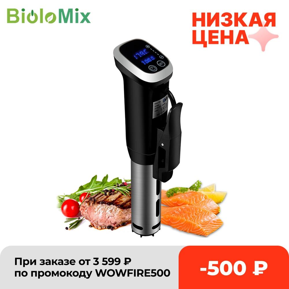 BioloMix 2.55 جيل IPX7 مقاوم للماء فراغ سوس فيديو طباخ الغمر دائري دقيق الطبخ مع شاشة ديجيتال LED