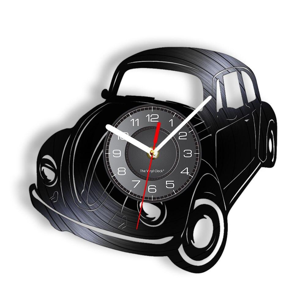 Álbum de vinilo Retro clásico para coche, reloj de pared de cuarzo...