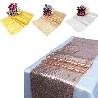 1pcs sequin table runner shiny gold silver luxury style embroider sequin table cover for wedding decors home dinner party supply