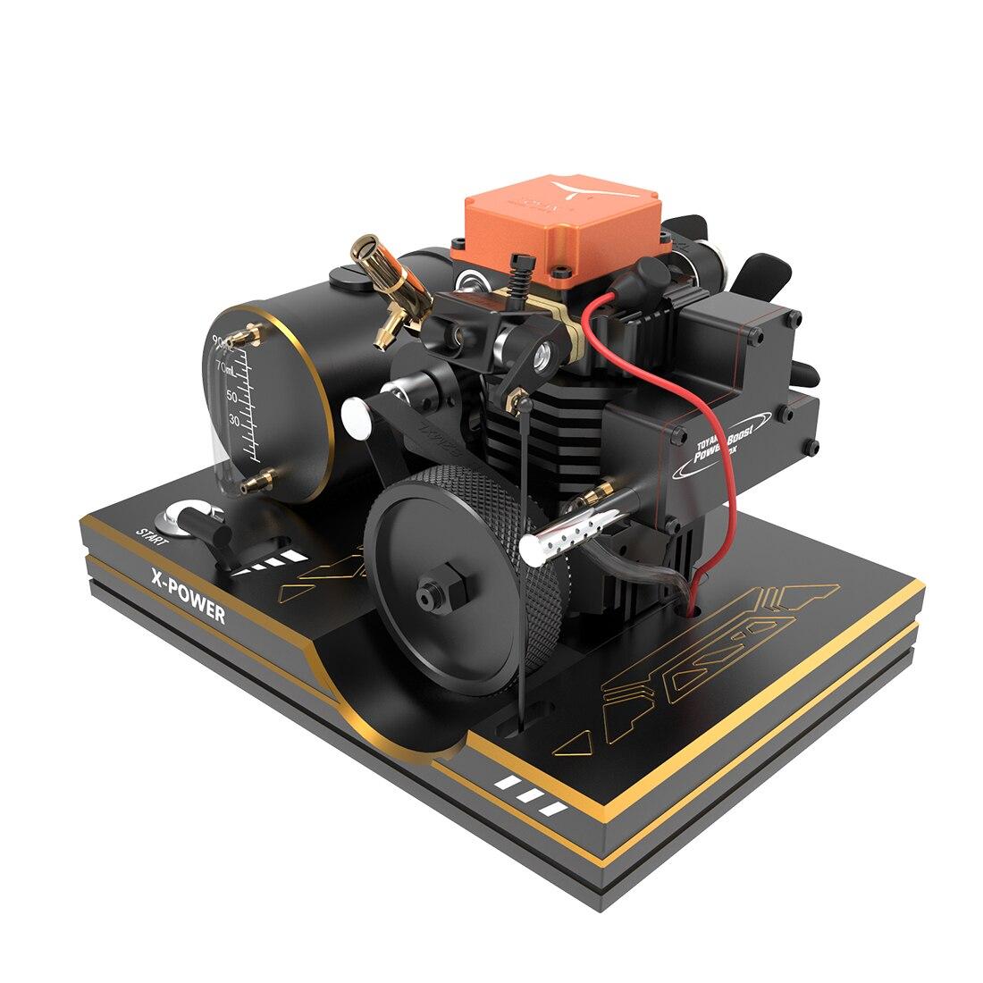 TOYAN FS-S100AC, conjunto DIY, cilindro único, motor de metanol de 4 tiempos, Kit para coche a control remoto, modelo de barco