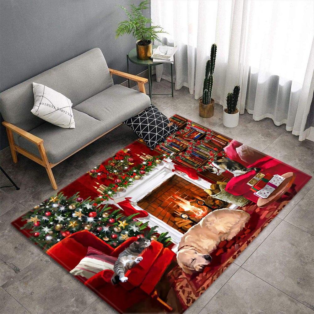 Joyeux noël cadeau tapis salon décor sol tapis enfant tapis de jeu chambre bonhomme de neige père noël salon tapis tapis
