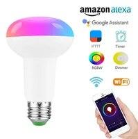 Ampoules intelligentes LED multicolores  10W  RGB  controle vocal WiFi  economie denergie  gradation  maison  Compatible avec telephone portable Alexa Google