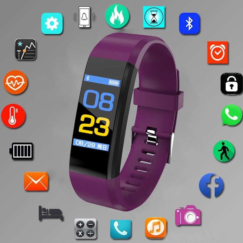 2020 Women's Sports Watch Smart Bracelet Heart Rate Monitor Blood Pressure Fitness Tracker Convenient Clock Men For IOS Android smart bracelet health couple smart band heart rate blood pressure monitor fitness tracker sports watch bluetooth for android ios