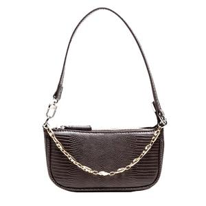 Retro Crocodile Pattern Crossbody Bags For Women 2019 Luxury Handbags Women Bags Designer Saddle Bags Lady Purses And Handbags