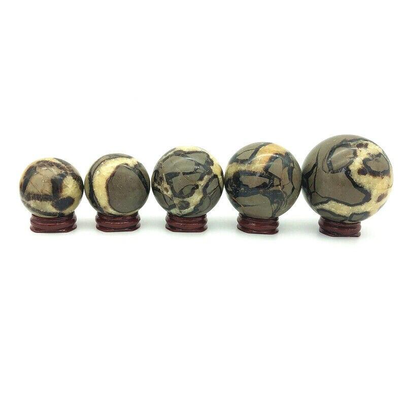 1PC Natural Septarium Ball Septarian Quartz Crystal Sphere Balls Healing Gift Decor Natural Stones and Minerals