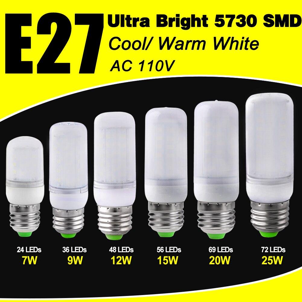 Ampulle LED E27 110V LED Lampe Mais Birne SMD5730 E27 energiesparende Beleuchtung hause Bombillas LED Für innen Kronleuchter kerze