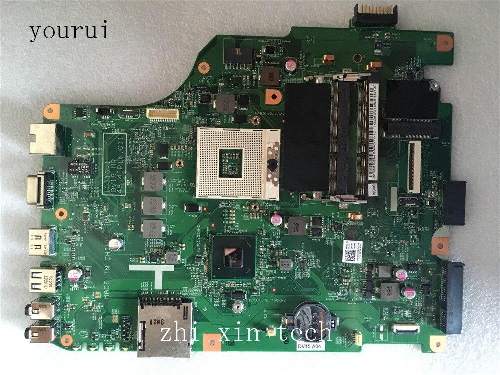 Yourui CN-0H00RX 0H00RX H00RX 48.4IP16.011 اللوحة الرئيسية لـ Dell Inspiron N5050 Sywtem اللوحة الرئيسية DDR3 اختبار العمل المثالي