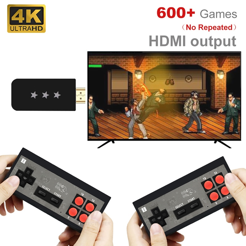 Video Game Console USB Wireless Handheld TV Mini Console Build In 620 Classic 8 Bit Games Dual Gamepad HDMI-Compatible Output