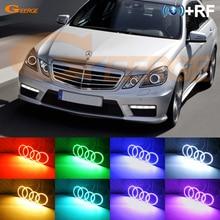 RF télécommande Bluetooth APP multicolore rvb led yeux dange pour Mercedes Benz classe E W212 2009-2012 pré lifting xénon phare