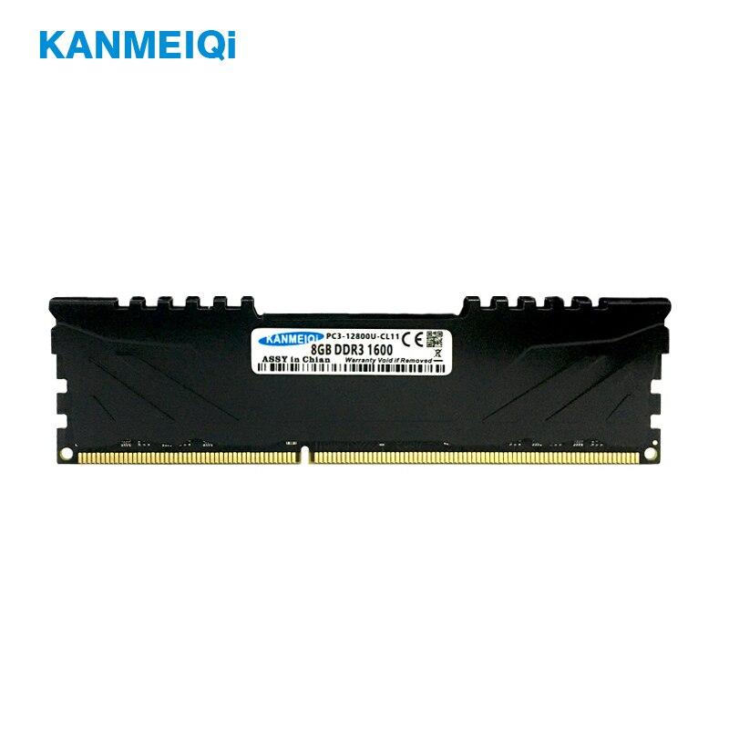 Memoria de escritorio KANMEIQi DDR3 ram 8GB 1866 1600 con disipador de calor pc3 dimm 4GB 1333MHz 1,5 V CL11