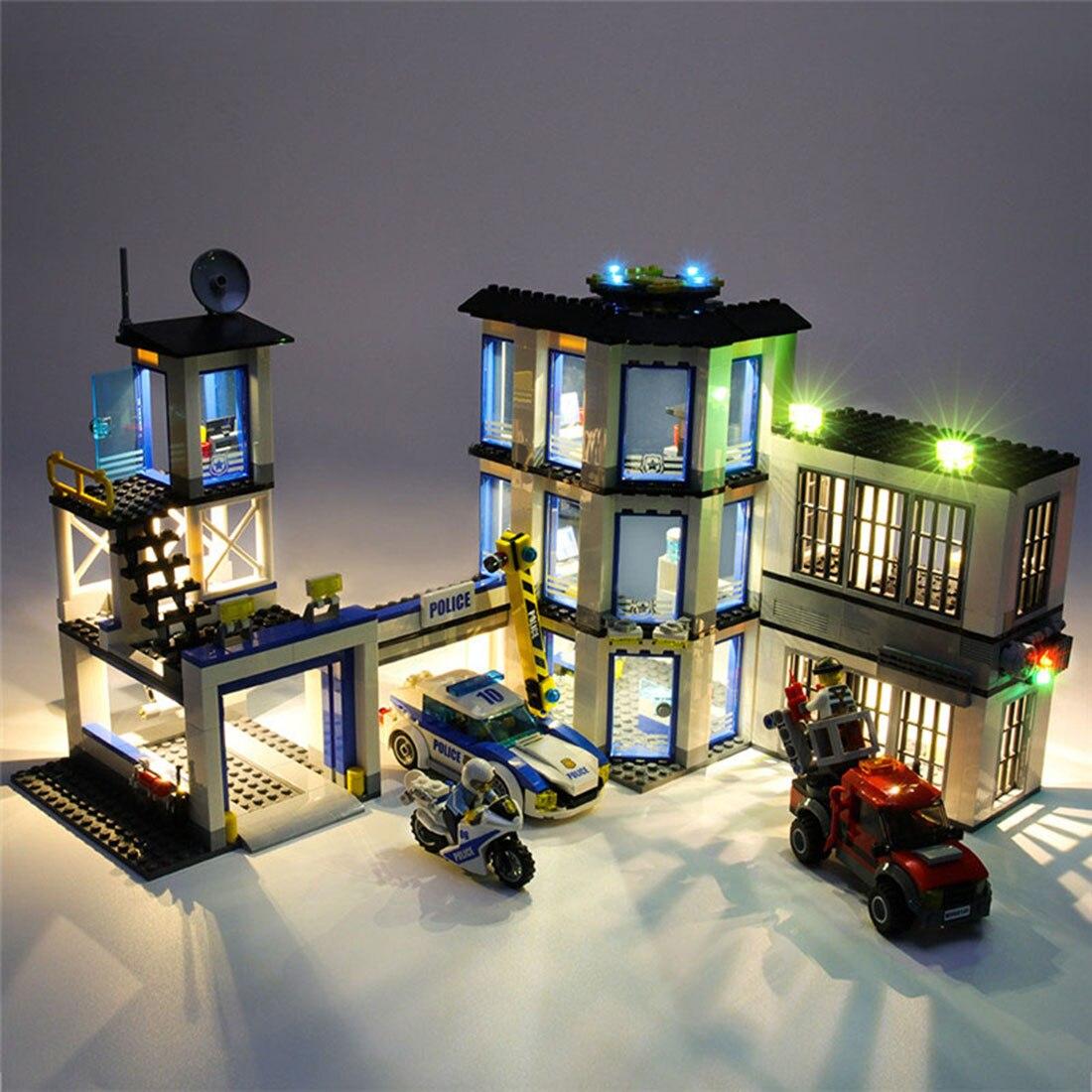 Kit de iluminação usb para a sede da polícia 60141 (apenas a luz do diodo emissor de luz, nenhum jogo do bloco)