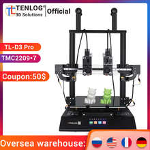 TENLOG TL-D3 PRO With TMC2209, Independent Dual Extruder 3D Printer, 300 Degree High temperature Nozzle, 600W Power Supply