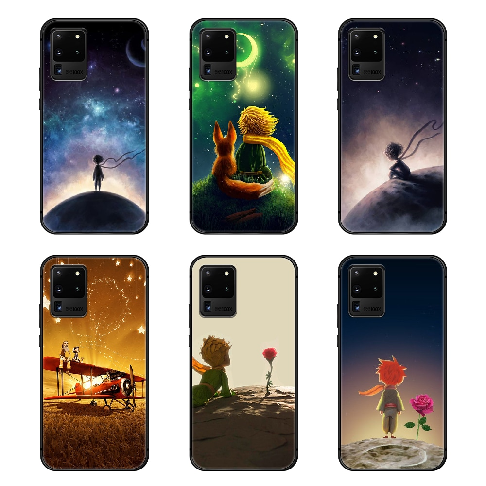 Le Petit Prince Phone Case Cover Hull For Samsung Galaxy S 6 7 8 9 10 e 20 edge uitra Note 8 9 10 plus black back tpu prime