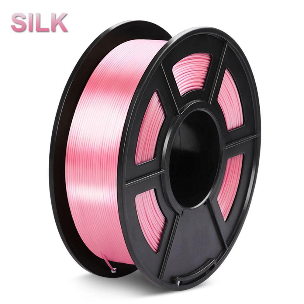 PLA خيوط الحرير 1 كجم 1.75 مللي متر نسيج الحرير صلابة عالية لامعة اللون قطر التسامح 0.02 مللي متر FDM طابعة ثلاثية الأبعاد مواد الطباعة