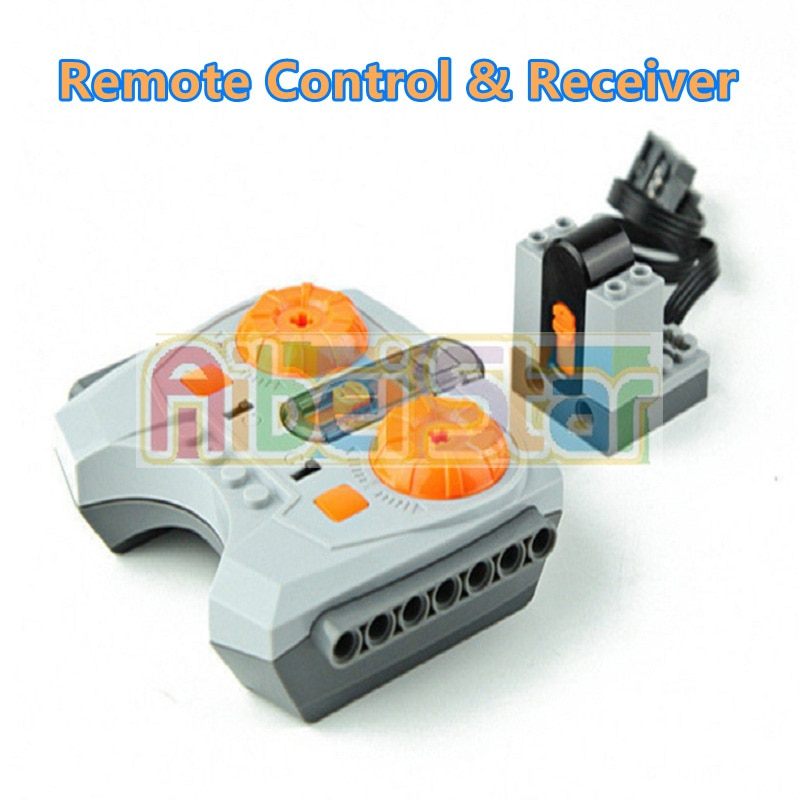 New wireless remote control train for urban rail Custom track and design Compatible with Lego building blocks