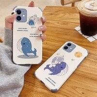 whale shockproof case for iphone 12 pro max mini 11 pro max x xr xs max se2020 8 8plus 7 7plus 6 6s plus soft phone cover case
