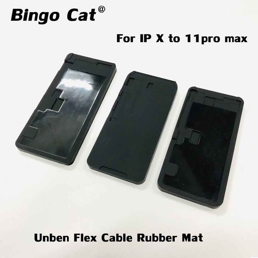 Не складывается гибкий кабель черный резиновый коврик ОСА ламинирующая форма коврик ЖК-экран ремонт формы для iPhone 11pro max X XSmax Инструменты для ремонта