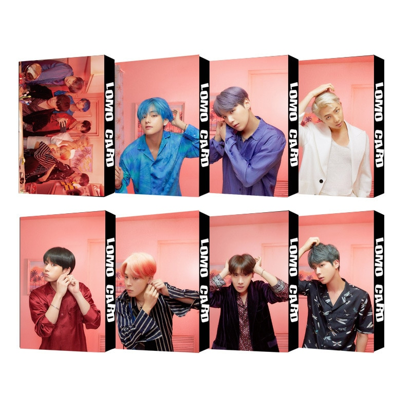 kpop lomo card bangtan boys album map of the soul persona member photocard set 30 cards 2019 Hot South Korean Groups KPOP Bangtan Boys Lomo Card Poster Album LOVE Your Self Collection Card Photocard Lomo Cards Gift