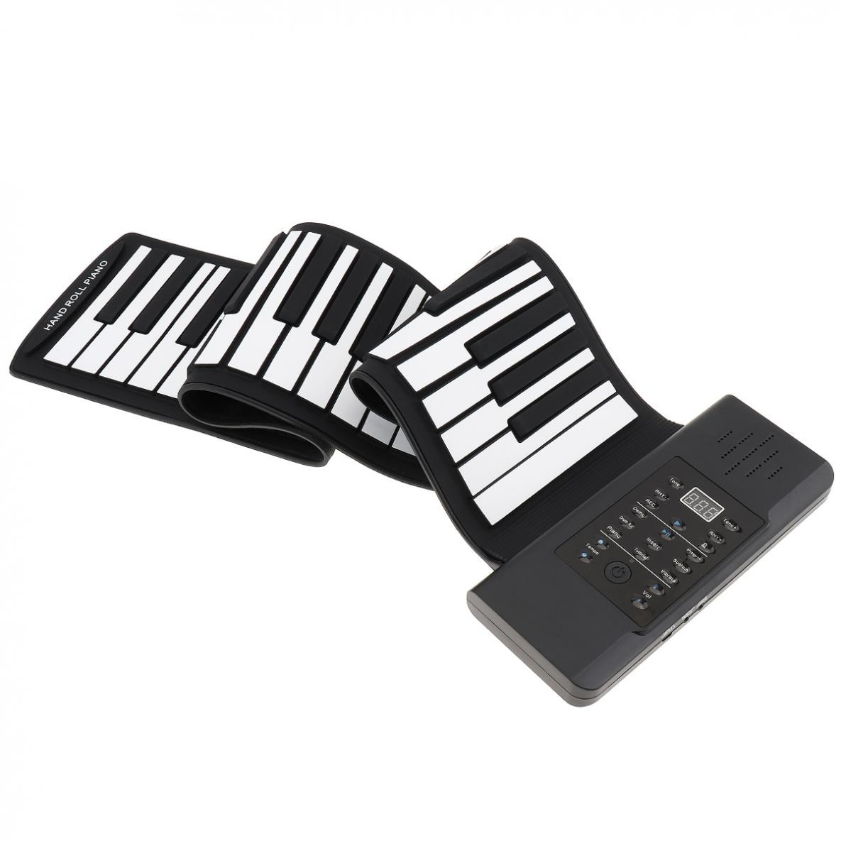 61 Keys MIDI Roll Up Piano Electronic Rechargeable Portable Silicone Flexible Keyboard Organ Built-in Speaker with Accessories enlarge