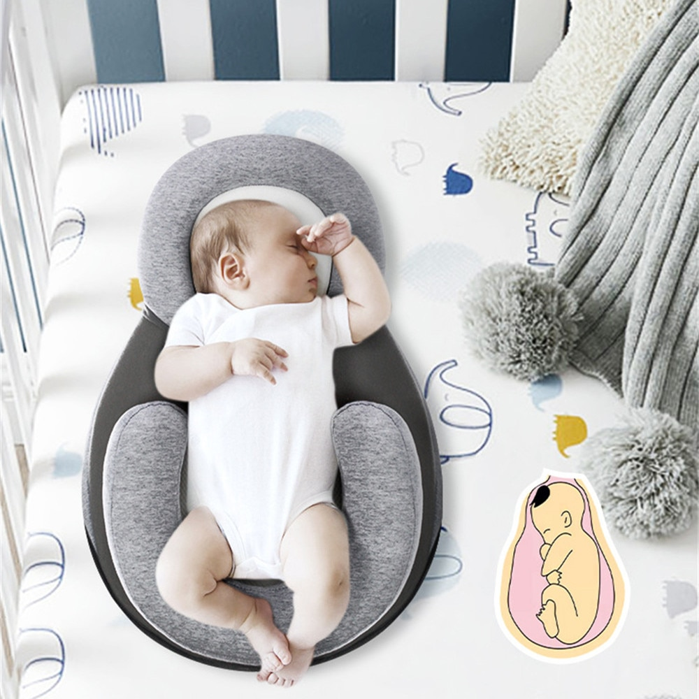 Baby Nest Sleeping Bed with Shaping Pillow Infant Toddler Cotton Crib Cradle for Newborn Baby Nursery Carry Cot Sleeper Bed