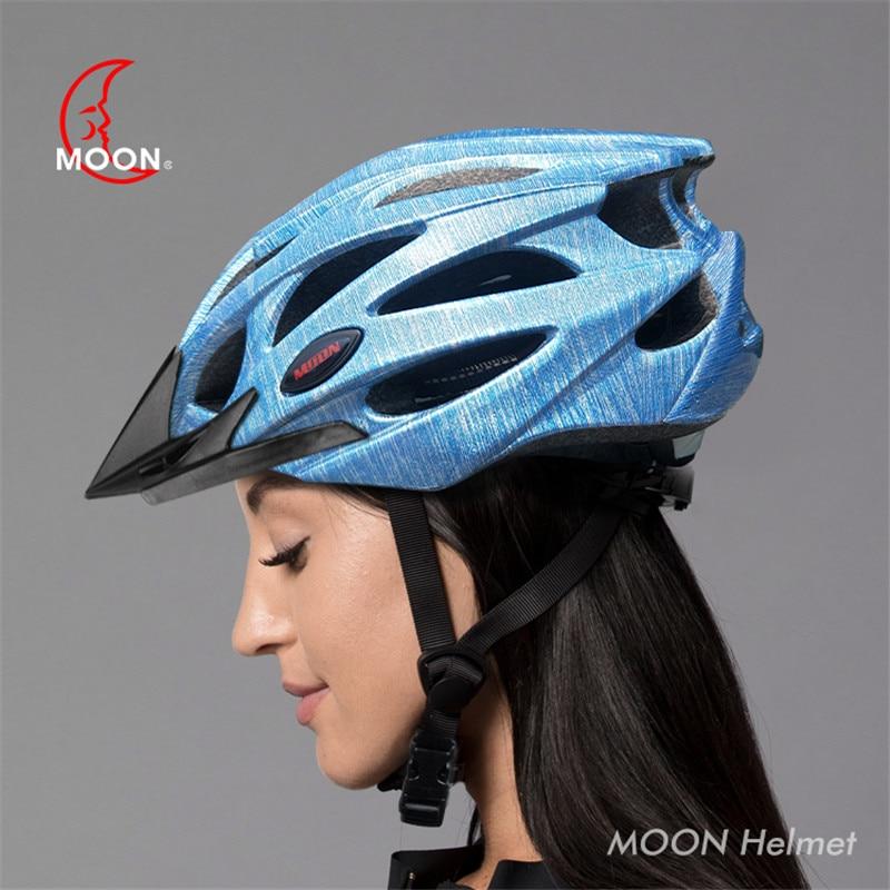 Kolarstwo odblaskowy kask Moon Mtb Road kask na rower górski noc jazda ostrzeżenie rowerowy hełm ochronny dla dorosłych 5
