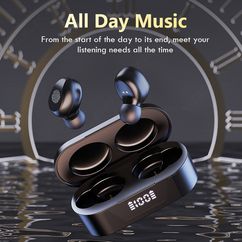 TWS Wireless Headphone Bluetooth-compatible 5.0 Earphone Earbuds With Microphone Stereo Sport Waterproof Headsets Touch Control tws bluetooth earbuds mini sport wireless earphone for phone stereo music earpiece hands free call headphone with microphone