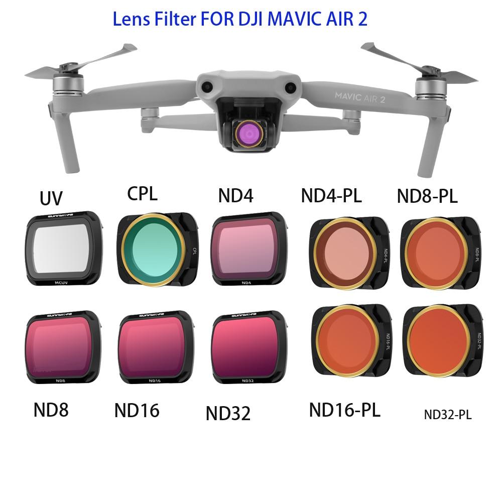 Kit de Filtro para Dji Mavic Lente Filtro Mcuv Cpl nd – pl Filtros Nd16 Nd32 Nd4-pl Nd8-pl Drone Acessórios Dji ar 2
