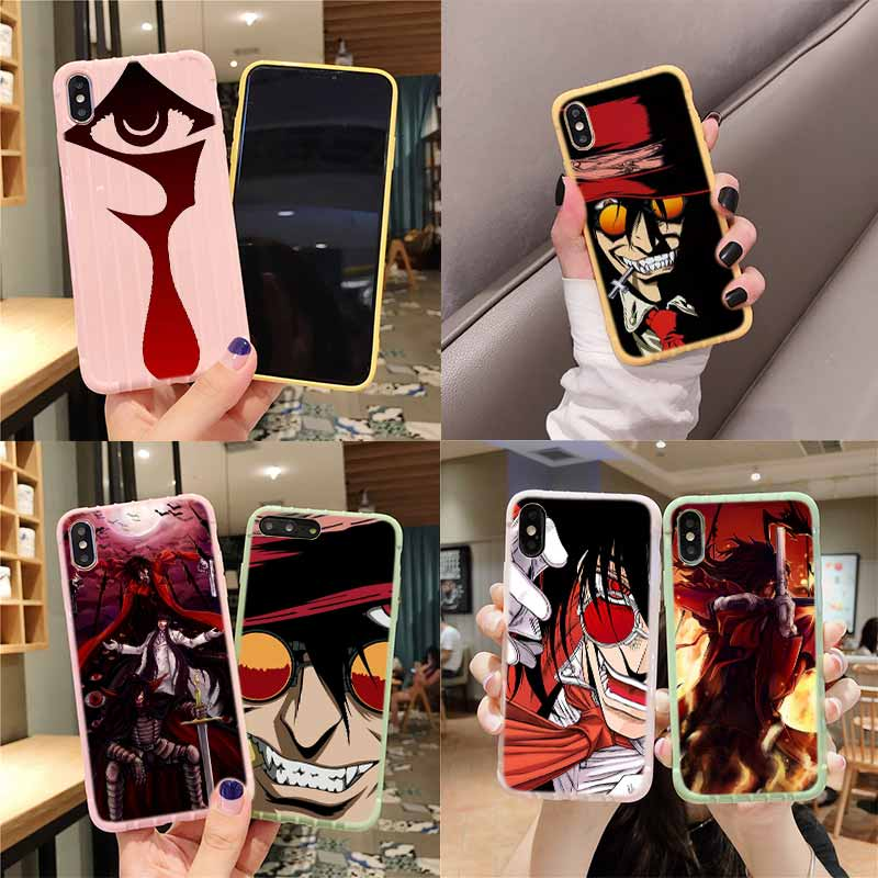 Anime Hellsing Alucard Fan, maleta con textura, funda de teléfono para iPhone 11 Pro Max X XS MAX 8 7 6S Plus