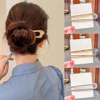 fashion u shape metal hair sticks for women hair clips hair accessories elegant simple gold color hairpins girl headwear jewelry